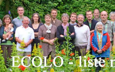 La liste complète ECOLO Walhain – liste n°1 – pour les communales