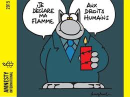 Philippe Geluck déclare sa flamme à Amnesty