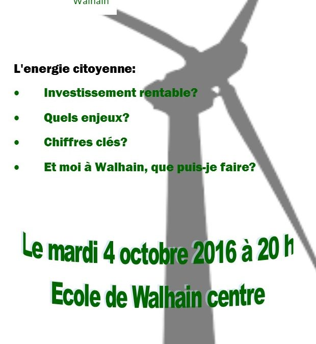 Ecolo Walhain et l'énergie citoyenne