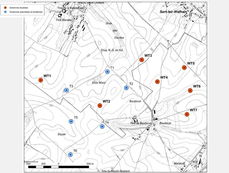 L'extension du parc éolien Walhain-Ernage. Ecolo dit non