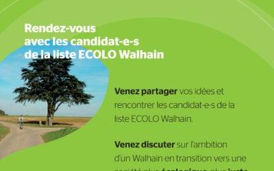 Le 3 octobre, ECOLO vous invite autour d'un VERT