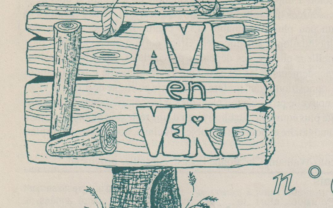 L'Avis en Vert – n° 1 à 25 – 1994 à 2000
